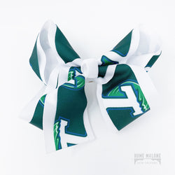 Tulane Hair Bow for New Orleans Girls, Locally Made Gifts for Kids