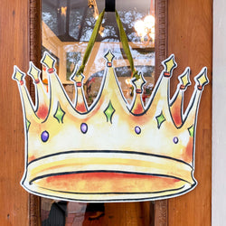 Mardi Gras Carnival Crown Door Hanger Home Malone New Orleans