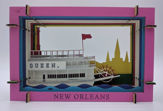 Riverboat 3D Diorama