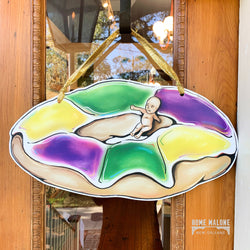 King Cake With Baby Door Hanger