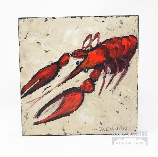 Lorrie Drennan Crawfish Art: 8x8