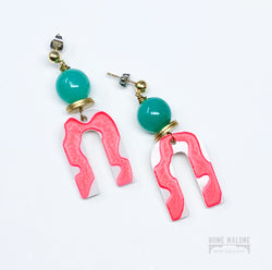 Colorful Statement Earrings Handmade Louisiana
