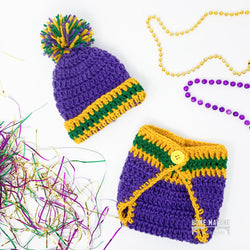 New Orleans Baby Gift, Baby Registry, Crochet and Diaper Set