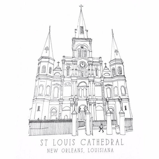 St. Louis Cathedral Notecard