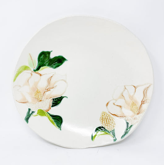 Ceramic Magnolia Serving Bowl Wedding Gift