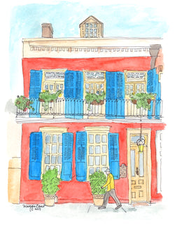 Bright French Quarter Notecard