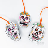 Sugar Skull Oyster Ornament