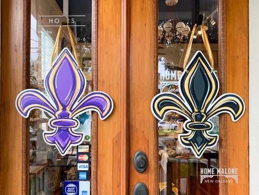 Double Sided FDL Door Hanger: LSU/Saints