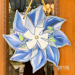 Blue Pinwheel Awareness Door Hanger