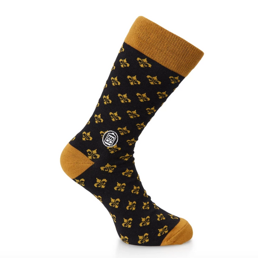 Bonfolk Socks - Black & Gold