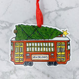 Christmas Streetcar Ornament