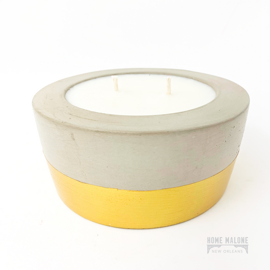 Oakmoss + Amber Concrete Candle: 12oz