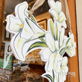 Easter Lily Cross Door Hanger Home Malone
