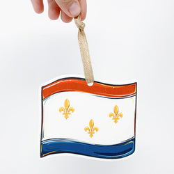 New Orleans Flag Ornament