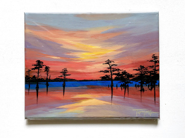 "Red Sunset - 8"" x 10"""