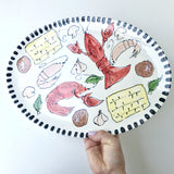 Crawfish Ceramic Platter