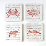 Seafood Coaster Set