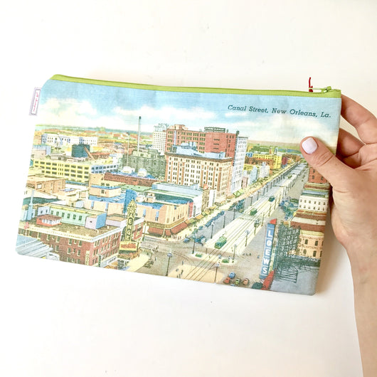 Fabric Zipper Bag - Canal St Collection