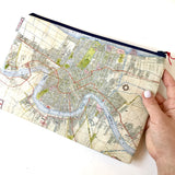 Fabric Zipper Bag: New Orleans Map