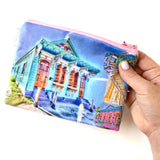 Fabric Zipper Bag: Shotgun House