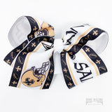 Large Saints Hair Bow