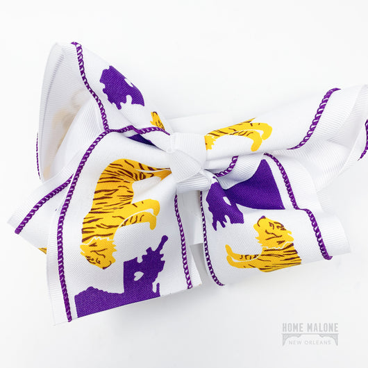 Large LSU Tigers Hair Bow