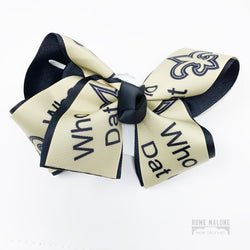 Who Dat Saints Hair Bow