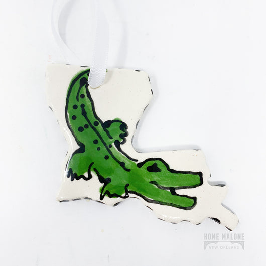 Alligator Louisiana Ceramic Ornament