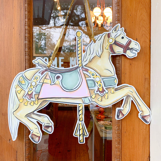 Carousel Flying Horse City Park New Orleans Home Malone Door Hanger