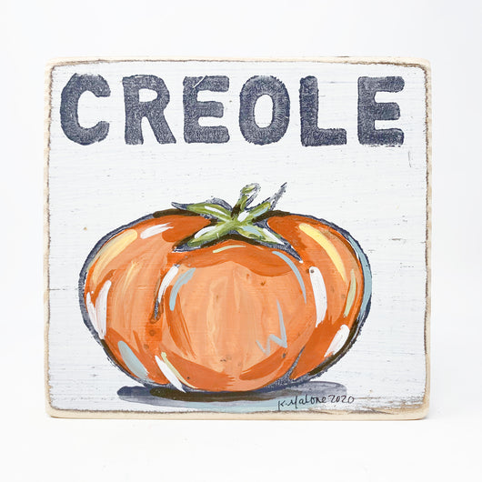 Creole Tomato Kitchen Wood Art Sign