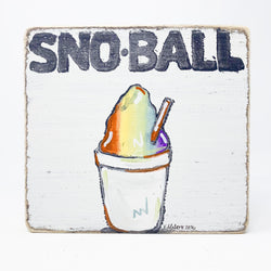 Home Malone New Orleans Sno-Ball Kitchen Art Wood Sign