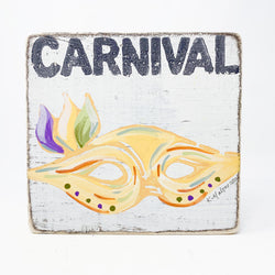 Carnival Wood Sign
