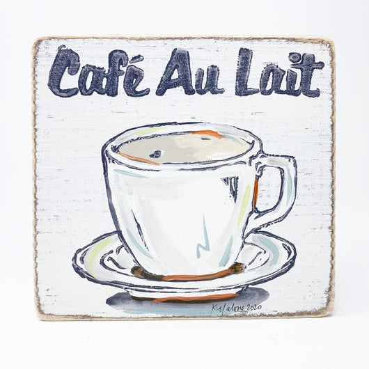 Home Malone Coffee Cafe Au Lait Wood Kitchen Art Sign