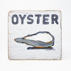Home Malone Kitchen Art Oyster Wood Sign