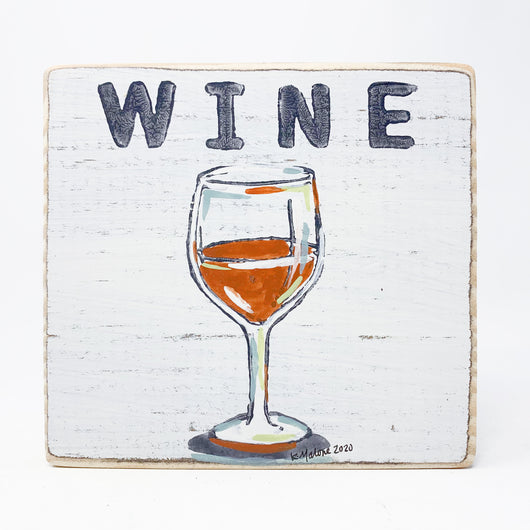 Home Malone Bar Art Red Wine Kitchen Sign