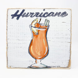 Home Malone Cocktail Art Hurricane Wood Sign Kitchen