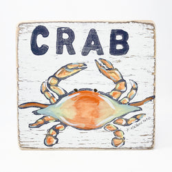Home Malone Crab Wood Kitchen Sign Art