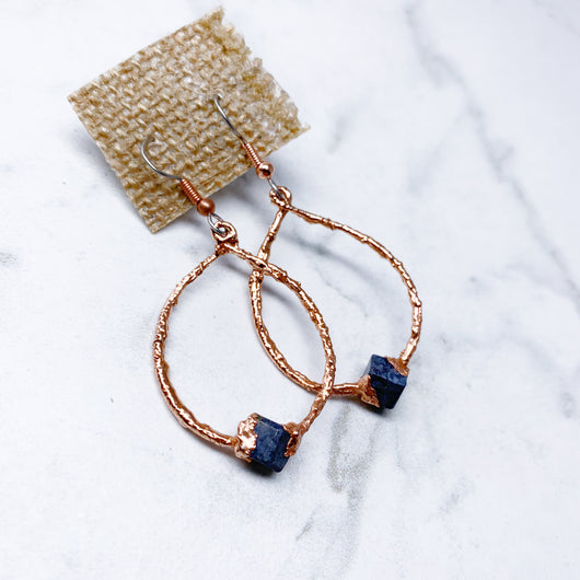 Lapis Hoop Earrings