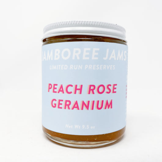 Peach Rose Geranium Jam