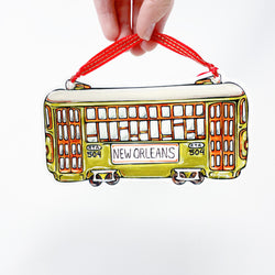 Green Streetcar New Orleans Christmas Tree Ornament Home Malone