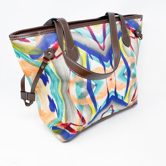 Abstract Waterproof Handbag