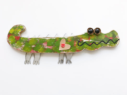 Wood Alligator Art