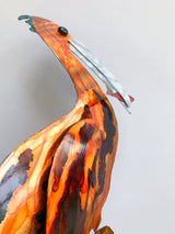 Pelican With Fish Metal Art