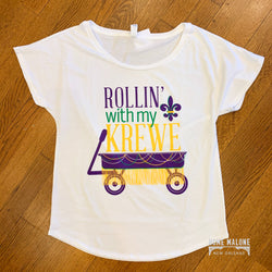 Rollin' With My Krewe Ladies Dolman