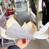 White Gold Magnolia House Float Flower