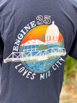 Mid City Love Engine 35 Unisex Tee