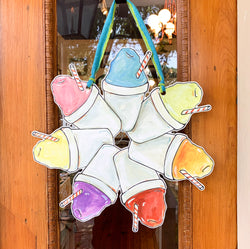 Sno-Ball Wreath Door Hanger