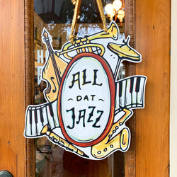 All Dat Jazz Door Hanger