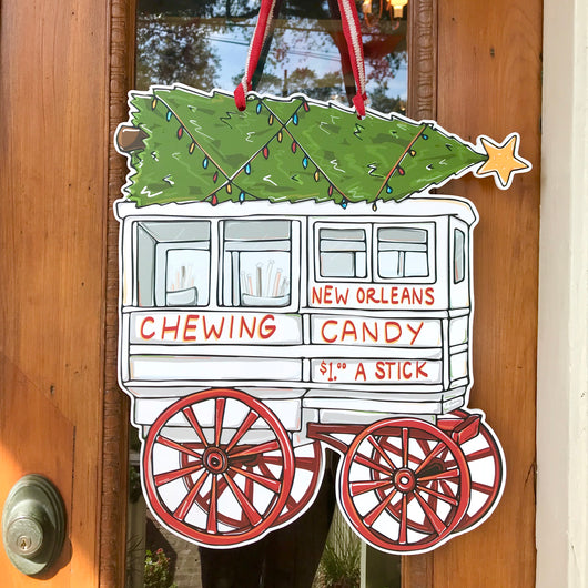 Roman Candy Christmas Door Hanger