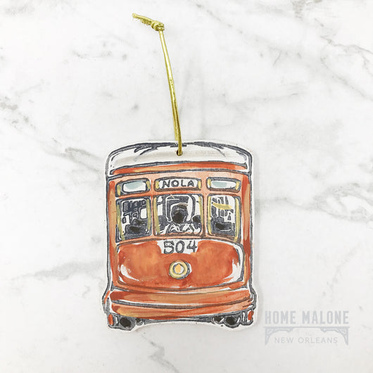 Home Malone Streetcar Ornament